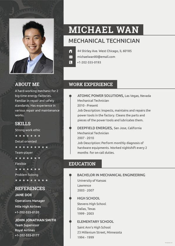 Mechanical Engineer Resume Templates Fresh Mechanical Engineering Resume Template 5 Free Word Pdf Document Downloads