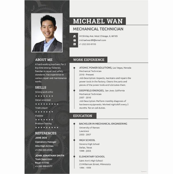 Mechanical Engineer Resume Templates Inspirational 10 Mechanical Engineering Resume Templates Pdf Doc