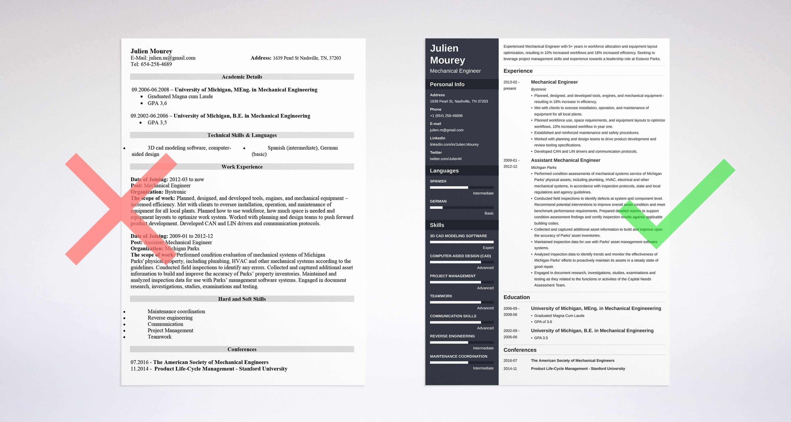 Mechanical Engineering Resume Examples Fresh Mechanical Engineering Resume Sample & Guide [20 Examples]