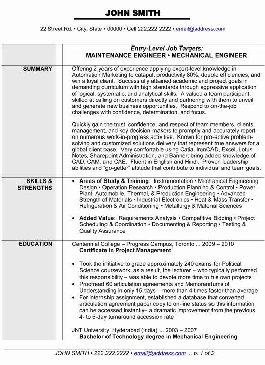 Mechanical Engineering Resume Template Elegant 10 Best Images About Best Mechanical Engineer Resume Templates & Samples On Pinterest