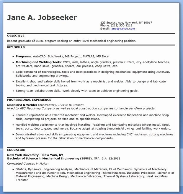 Mechanical Engineering Resume Template Lovely Mechanical Engineering Resume Template Entry Level