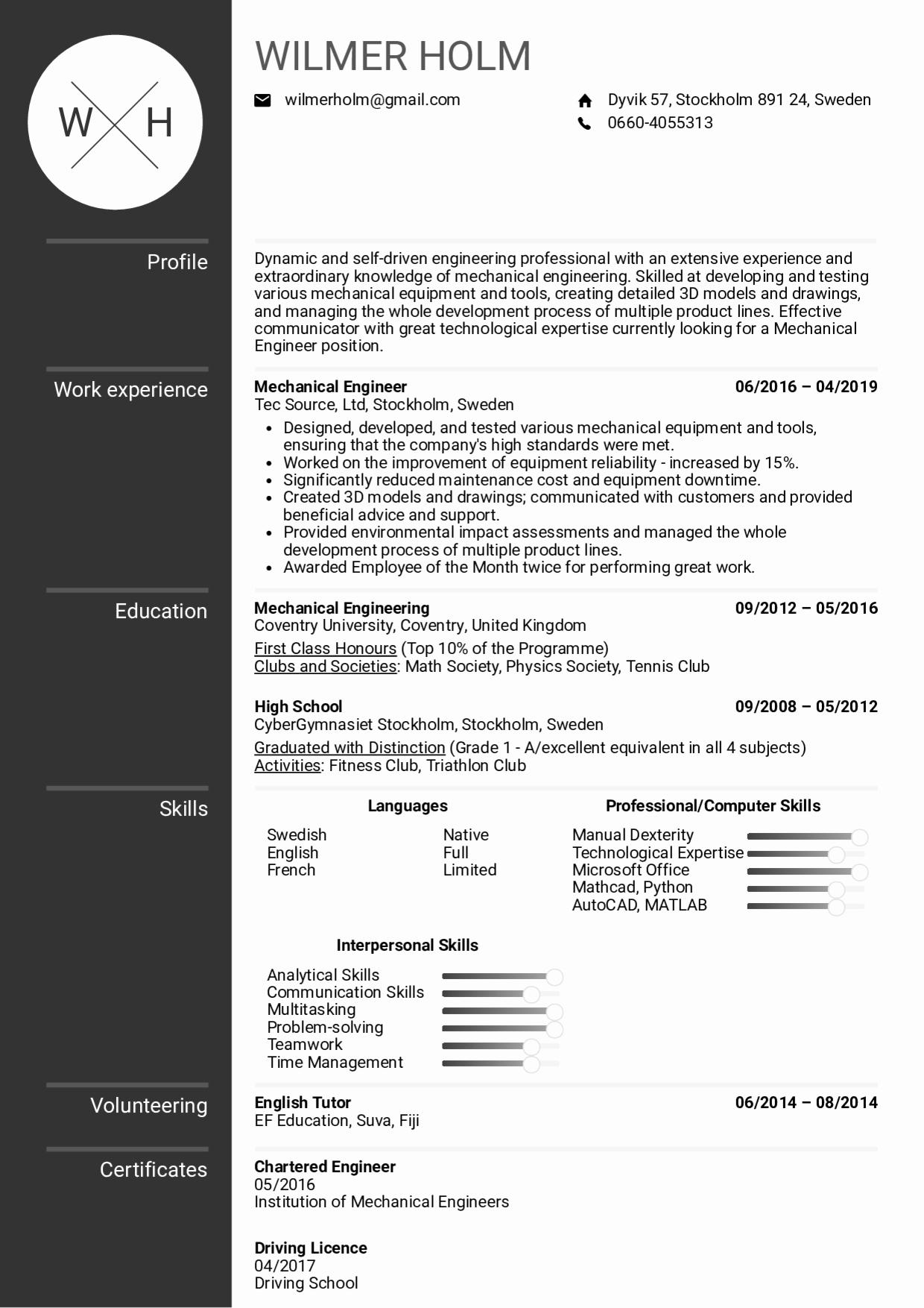 Mechanical Engineering Resume Template Luxury Resume Examples by Real People Mechanical Engineer Resume Sample