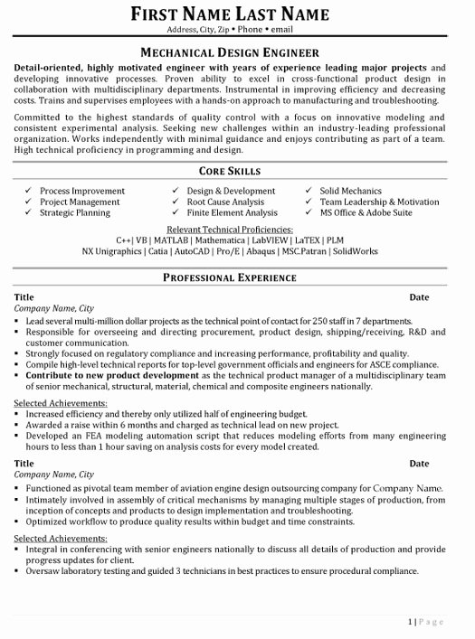 Mechanical Engineering Resume Templates Awesome top Aerospace Resume Templates & Samples