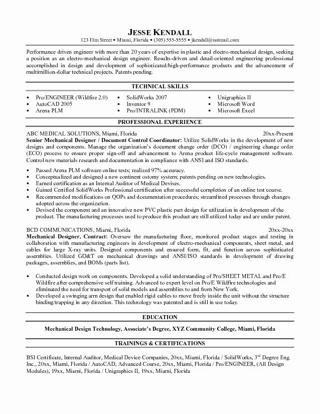 Mechanical Engineering Resume Templates Elegant Mechanical Designer Resume Templates Word Get My Free Video Tutorial Course Here