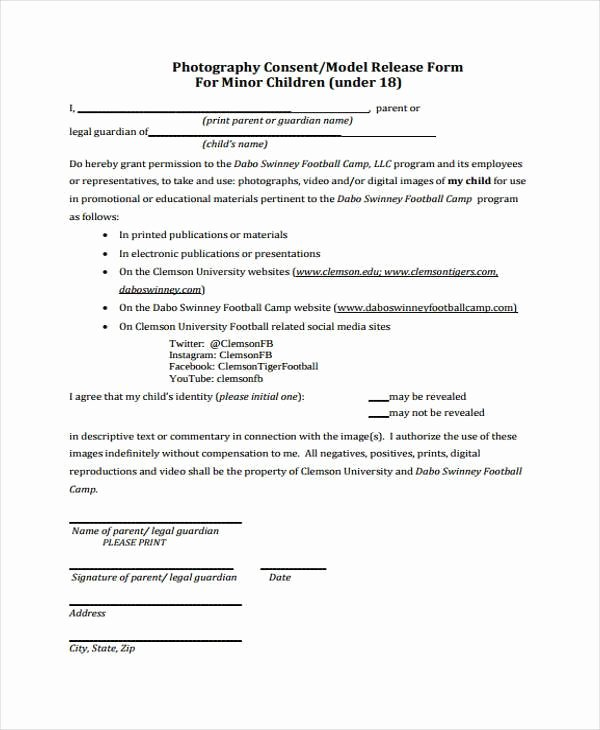 Media Release form Template Beautiful Free 38 Release form Templates