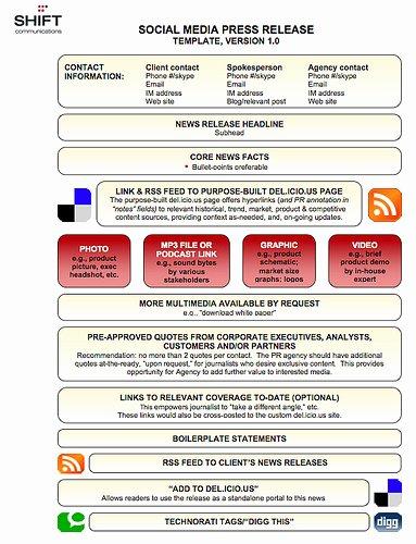 Media Release form Template Inspirational News organizations