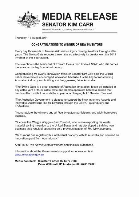 Media Release form Template Luxury Media Release Template Minister Carr Ip Australia