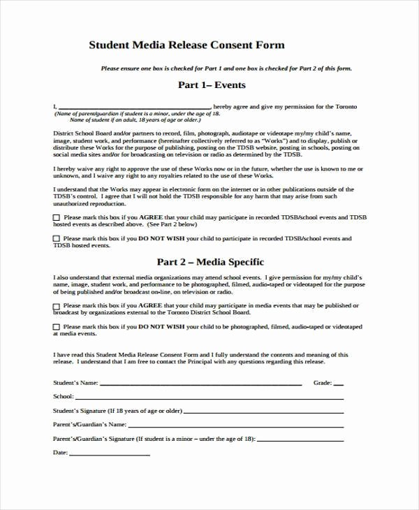Media Release form Template Unique Free 38 Release form Templates