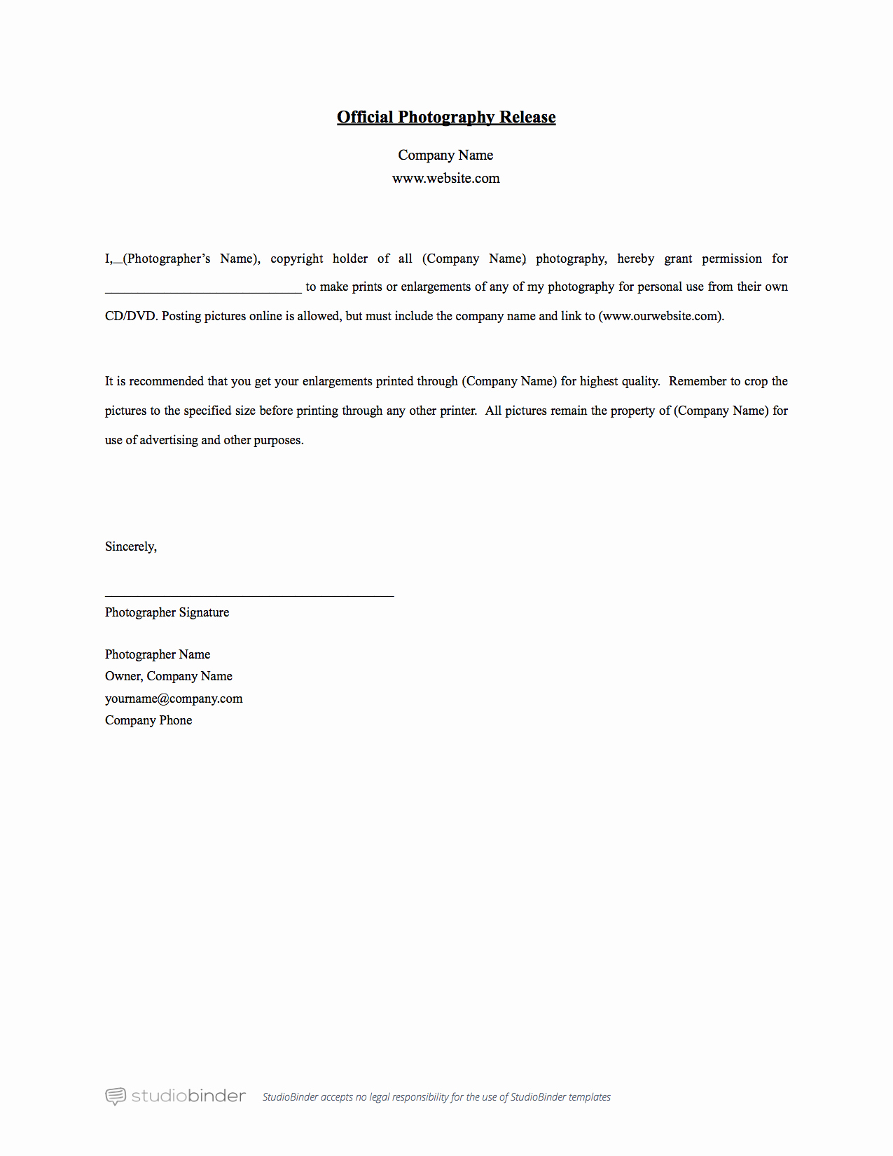Media Release forms Template Best Of why You Should Have A Release form Template