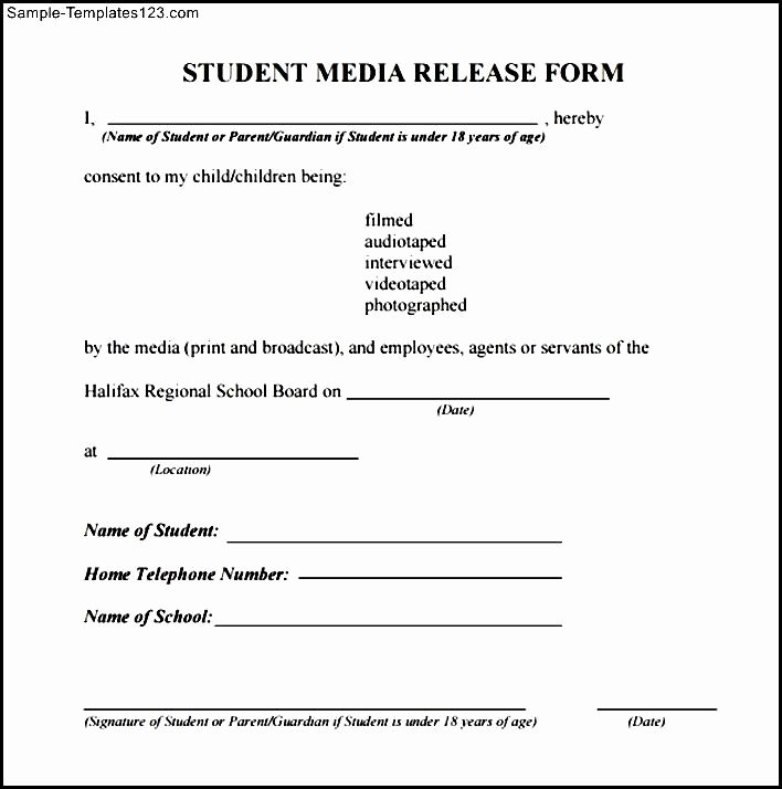 Media Release forms Template Lovely 28 Of Media Release form Template
