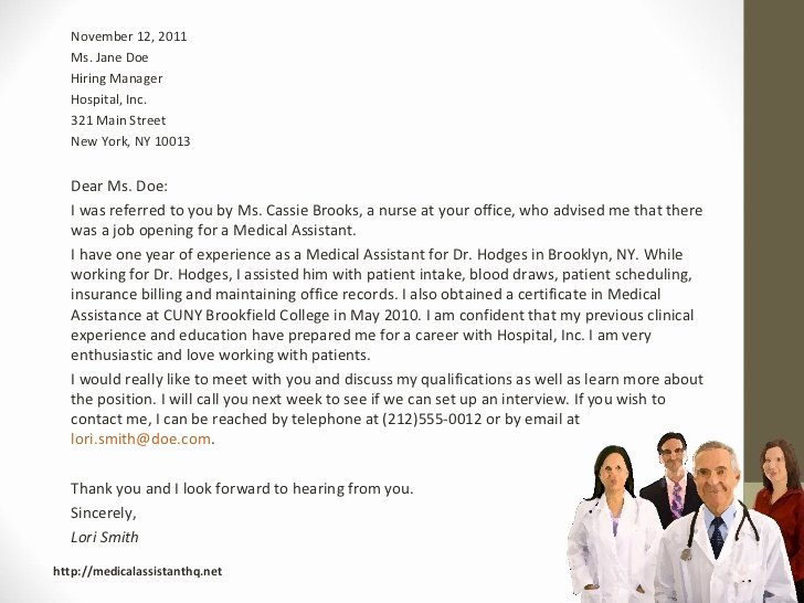 Medical assistant Thank You Letter Beautiful Medical assistant Cover Letter Samples