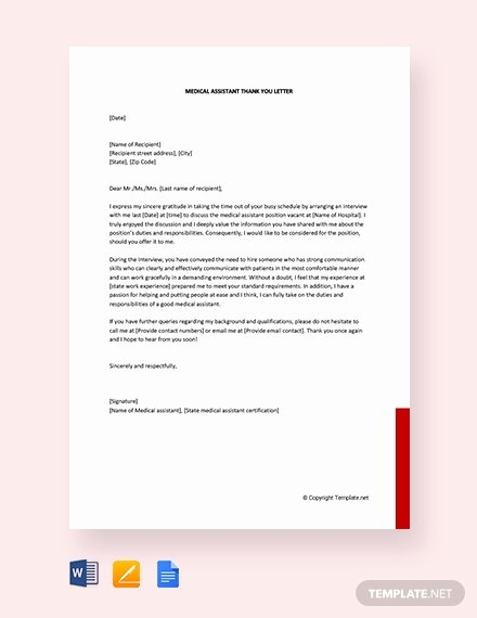 Medical assistant Thank You Letter Unique Free End Of Internship Thank You Letter Template Download