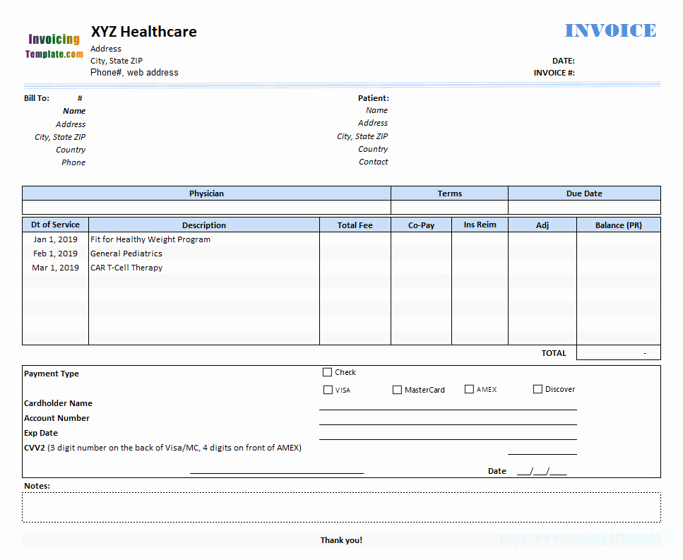 Medical Bill Template Pdf Inspirational Medical Invoice Template 2