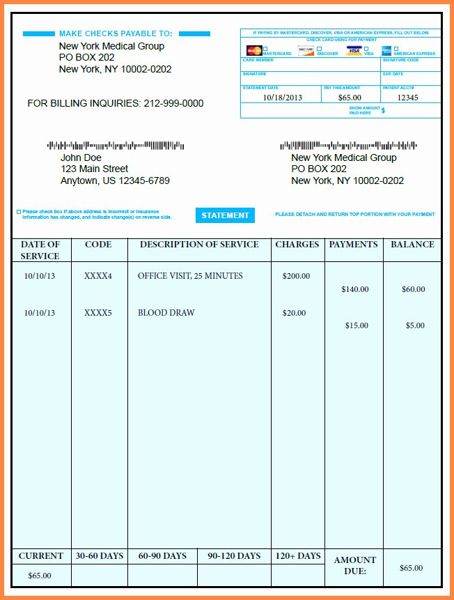 Medical Bill Template Pdf Luxury Medical Receipt Template In Printable format