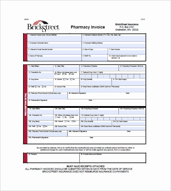 Medical Bill Template Pdf New 10 Medical Health Invoice Templates Docs Pdf Word