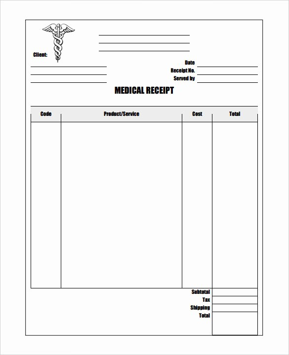 Medical Bill Template Pdf New 20 Medical Receipt Templates Word Pdf Google Docs