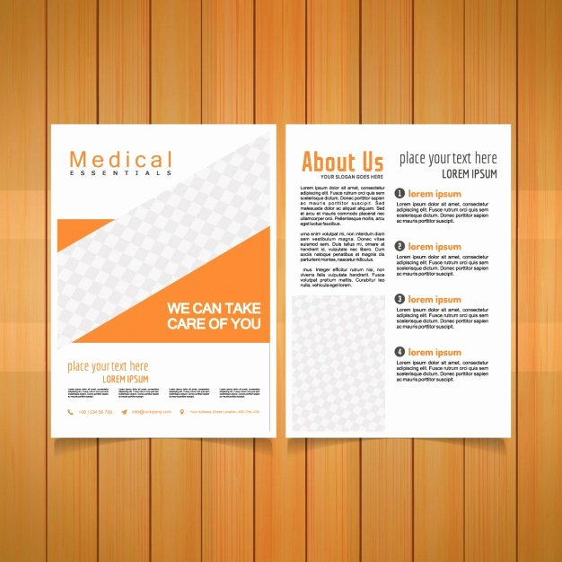 Medical Brochure Templates Free Awesome Medical Brochure Template Vector