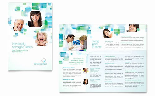 Medical Brochure Templates Free Beautiful orthodontist Brochure Template