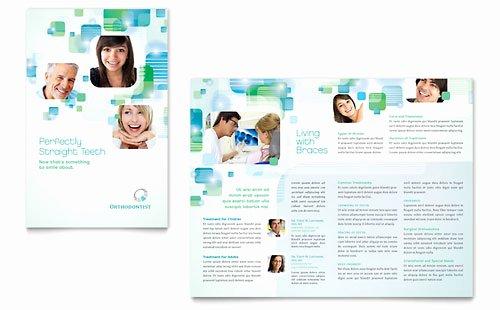 Medical Brochure Templates Free Beautiful orthodontist Brochure Template