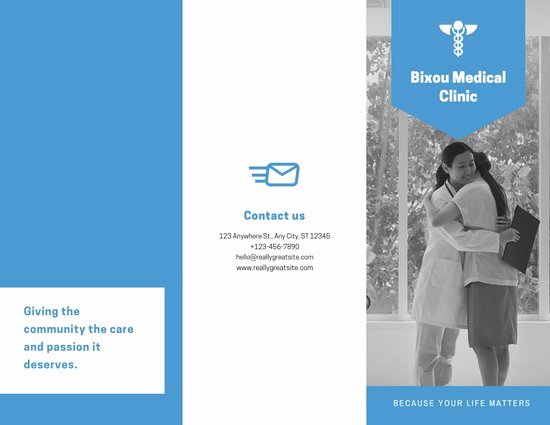 Medical Brochure Templates Free Elegant Customize 42 Medical Trifold Brochure Templates Online Canva