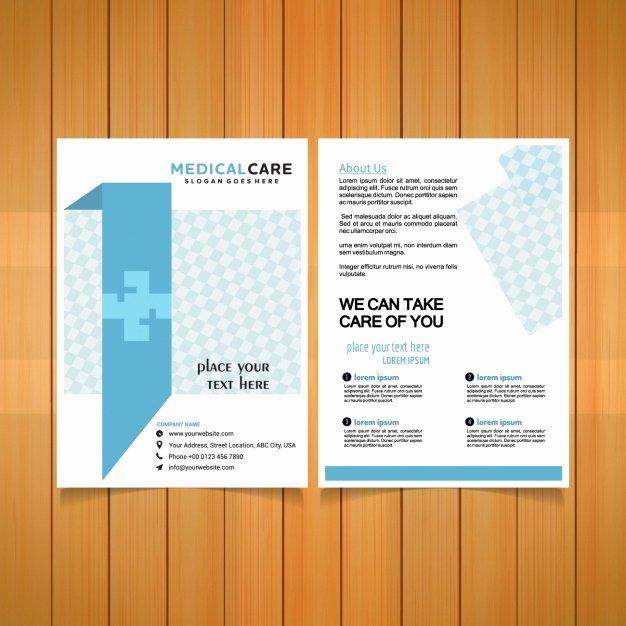 Medical Brochure Templates Free Luxury Medical Brochure Template Vector