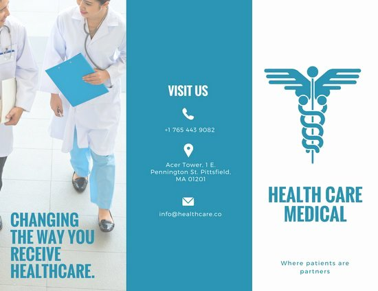 Medical Brochure Templates Free Unique Customize 56 Medical Brochure Templates Online Canva
