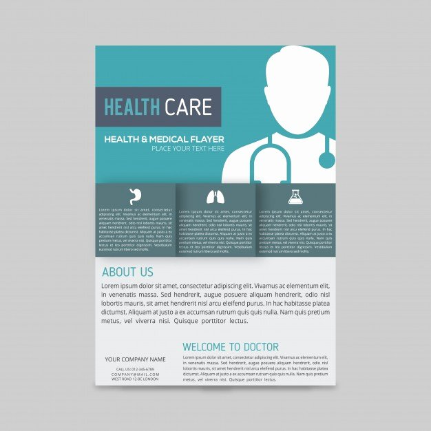 Medical Brochure Templates Free Unique Modern Medical Brochure Template Vector