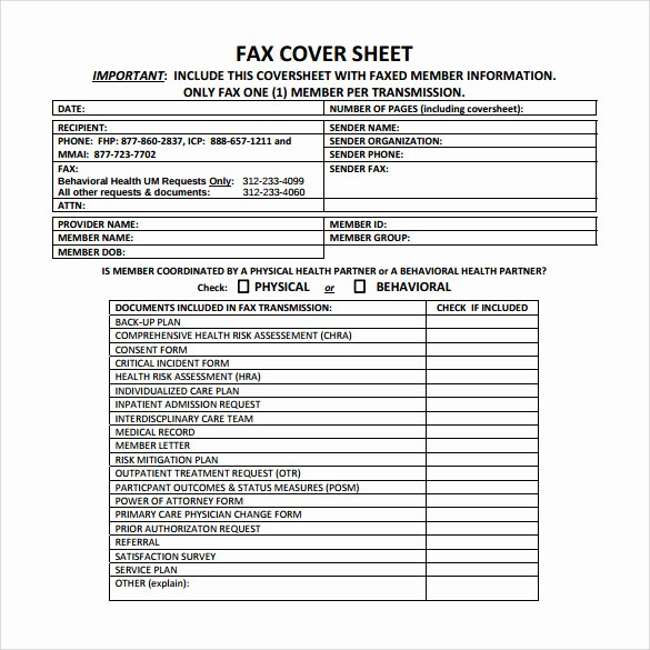 Medical Fax Cover Sheet Awesome Medical Fax Cover Sheet 14 Documents In Pdf Word