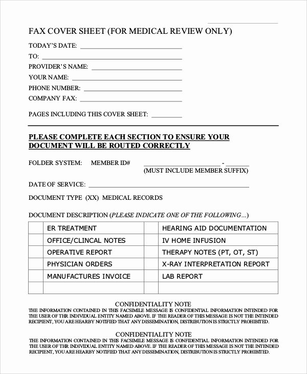 Medical Fax Cover Sheet Elegant Generic Fax Cover Sheet Sample 8 Examples In Pdf Word