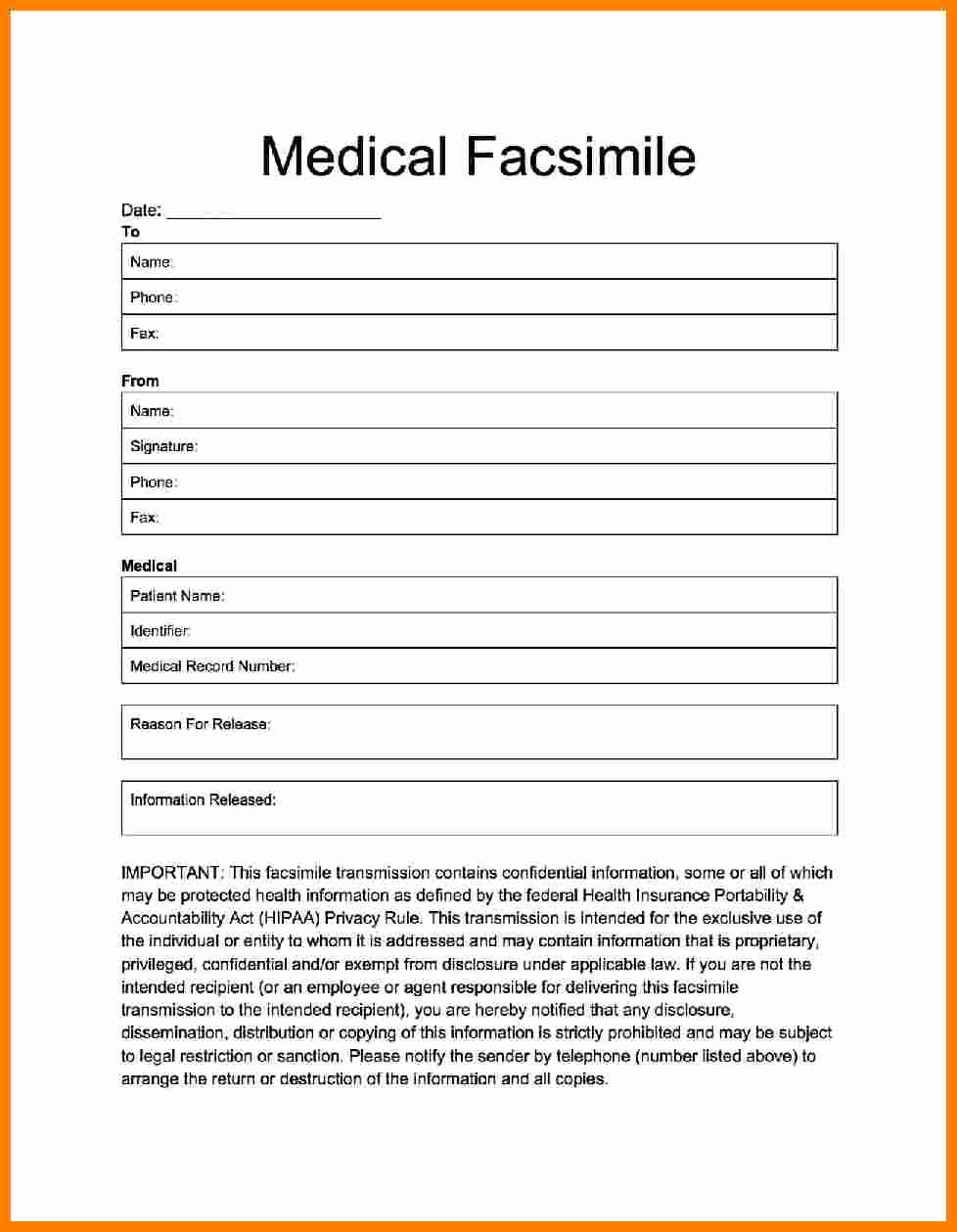 6 medical fax cover sheet template