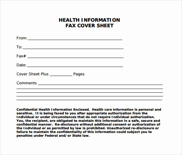 Medical Fax Cover Sheet Luxury Sample Blank Fax Cover Sheet 9 Free Samples Examples format