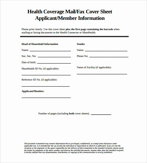 Medical Fax Cover Sheet Unique 9 Fax Cover Sheet Templates – Free Sample Example format Download