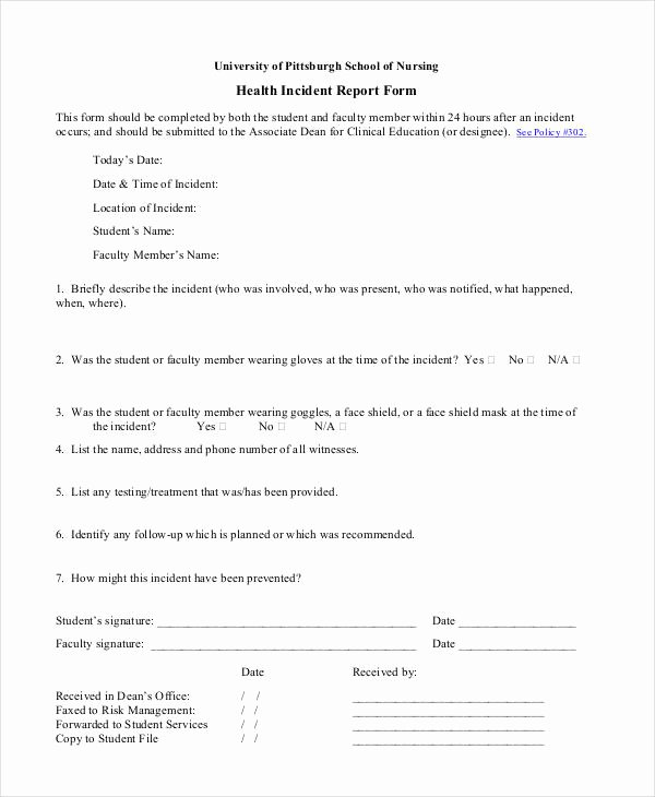 Medical Incident Report form Awesome Blank Incident Report Template 18 Free Pdf Word Docs format Download
