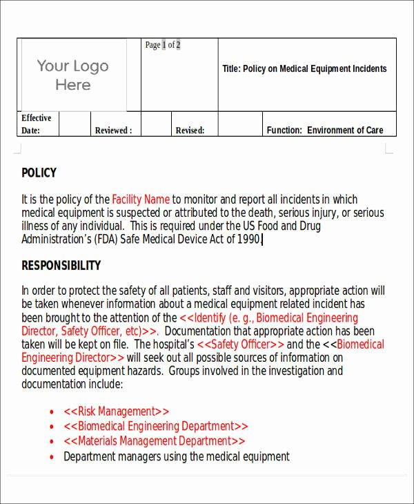 Medical Incident Report form Beautiful 59 Incident Report formats Pdf Word Docs