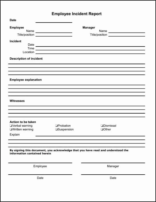Medical Incident Report form Elegant 13 Incident Report Templates Excel Pdf formats