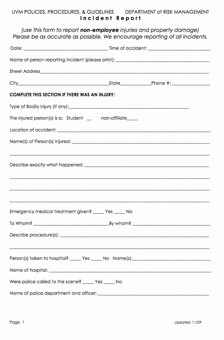 Medical Incident Report form Inspirational 13 Incident Report Templates Excel Pdf formats