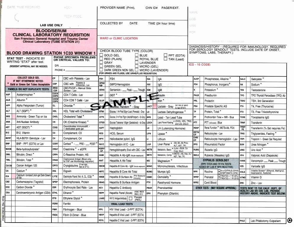Medical Lab Results Template New 20 Of Thyroid Lab Requisition form Labcorp Template