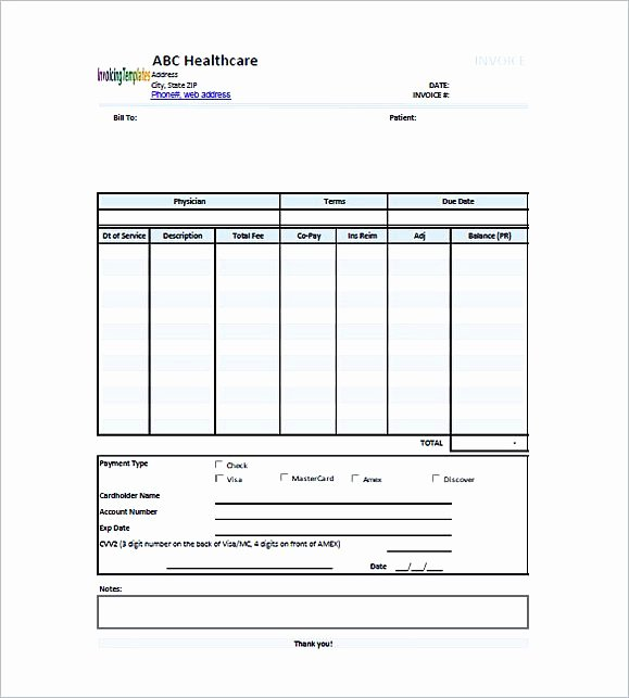 Medical Records Invoice Template Inspirational Medical Invoice Template