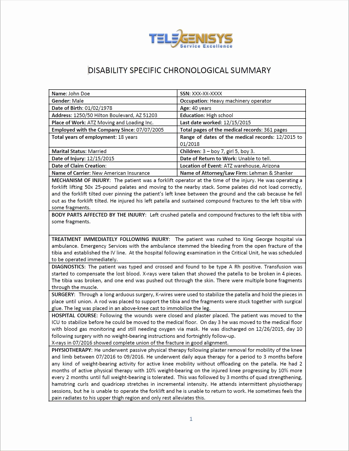 Medical Records Summary Template Best Of Medical Summary Examples 2019