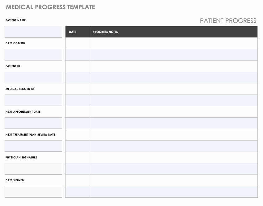 Medical Records Summary Template New Free Medical form Templates