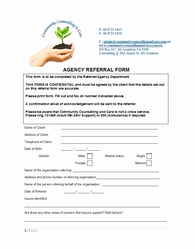 Medical Referral form Templates Fresh 50 Referral form Templates [medical & General] Template Lab
