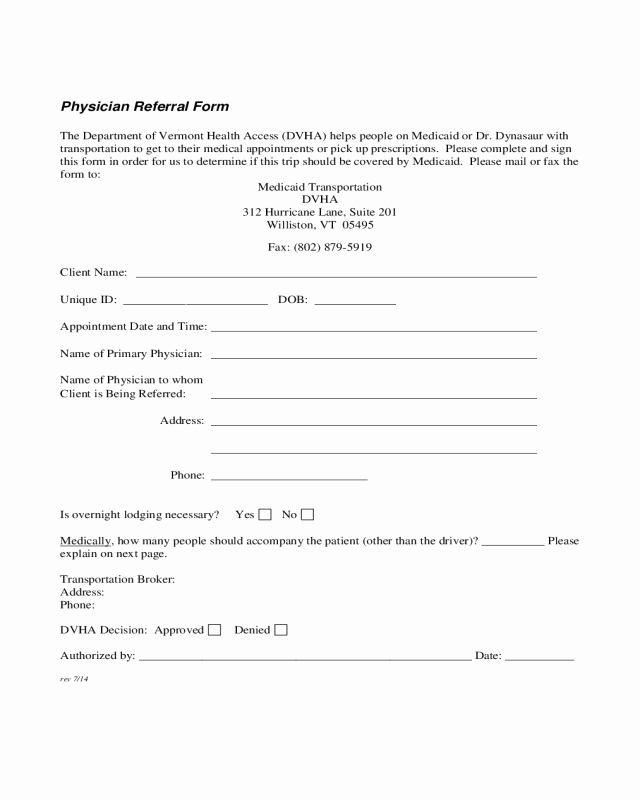 Medical Referral form Templates Luxury 2019 Medical Referral form Fillable Printable Pdf