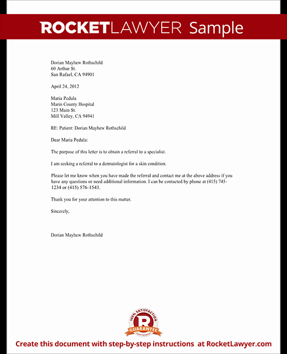 Medical Referral Letter Template Best Of Letter to Request A Referral to Another Doctor Template