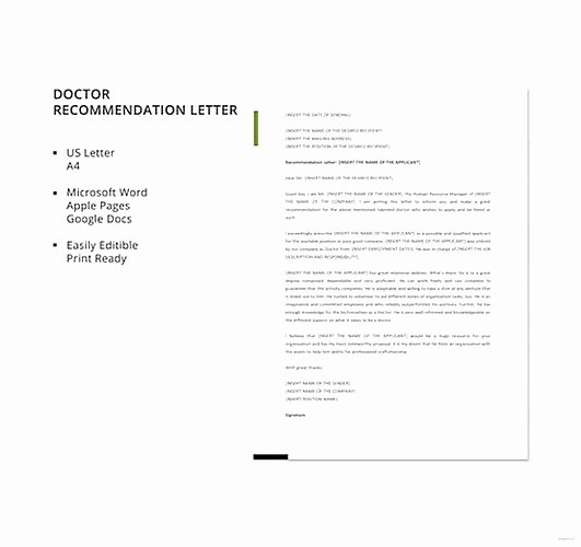 Medical Referral Letter Template Luxury Letter Of Re Mendation Template