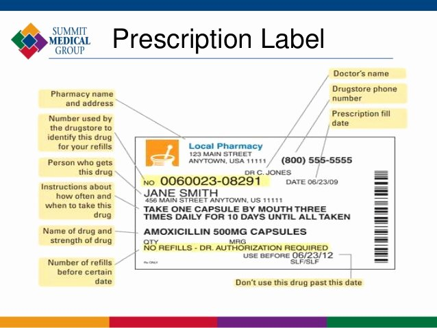 Medicine Bottle Label Template Awesome Prescription Bottle Label Template
