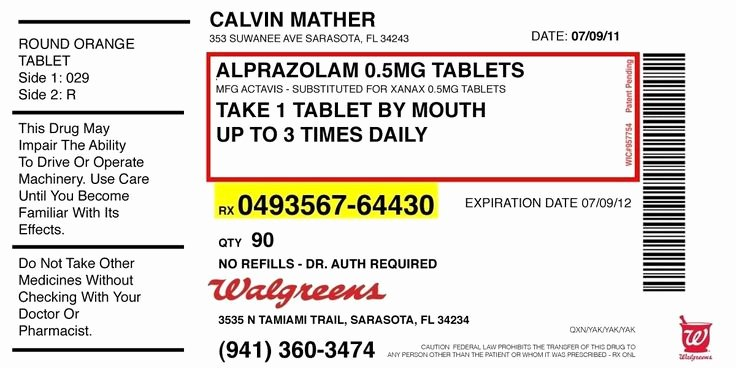 Medicine Bottle Label Template Fresh Pill Bottle Label Template Prescription Label Template