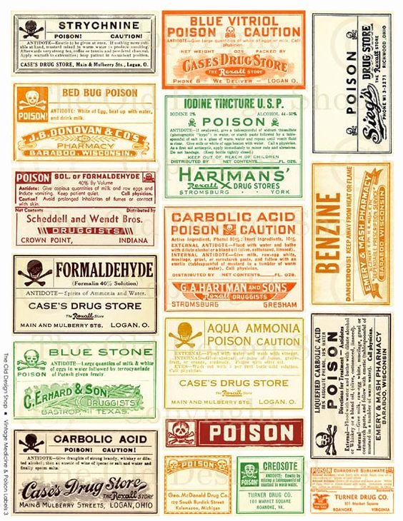 Medicine Bottle Label Template Unique Old Medicine Bottle Labels