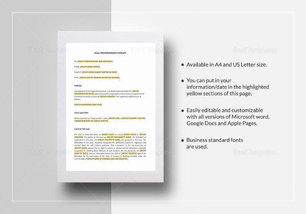 Memo Template Google Docs Awesome 13 Legal Memo Templates – Sample Word Google Docs format Download