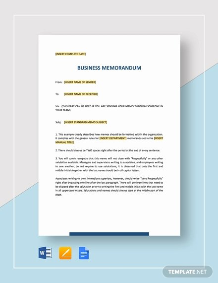 Memo Template Google Docs Awesome Memorandum Of Understanding Between Two Parties for Business Template Download 4823 Memo