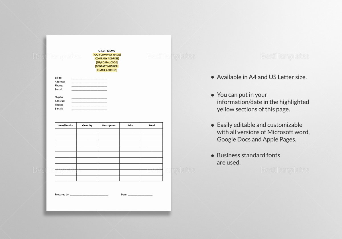 Memo Template Google Docs Best Of Credit Memo Template In Word Google Docs Apple Pages